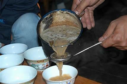 Приготовление тибетского чая