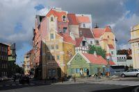 В Познани появилась огромная уникальная настенная 3D-роспись, ознаменовавшая исторический район