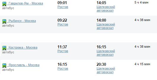 Цена билета от ростова до москвы