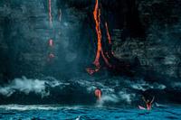 Заплыв с лавой на Гавайях