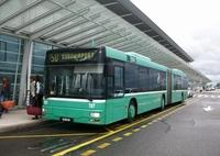 Автобус №50 - от Евро-аэропорта до Станции Базеля Basel SBB