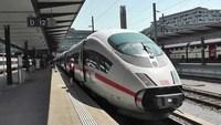 Скоростной поезд ICE: из станции Basel SBB через Фрайбург