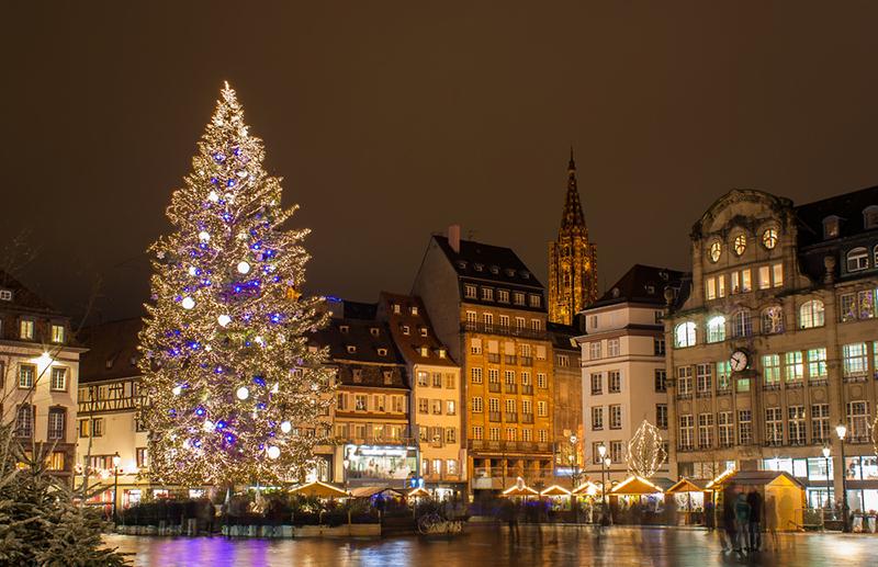 Новогодняя елка, Страсбург   Новогодний