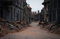 Декорации «Мосфильма» времен Второй мировой войны