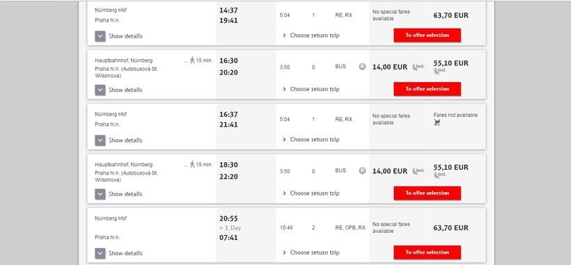 Поезда из Праги в Дрезден  расписания билеты