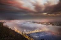 10 фантастических кадров прекрасного Будапешта, утопающего в молочном тумане