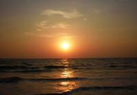 Удивительный закат на Гоа в октябре