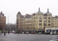 Снег с дождём на Красной площади