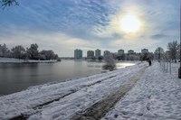 Вид минских набережных зимой