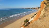 Пустые пляжи январской Албуфейры