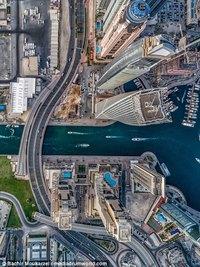Захватывающие снимки дронов, демонстрирующие невероятную архитектуру Дубая