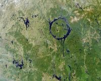 The eye of Quebec: the unusual lake of Canada, formed as a result of a meteorite impact