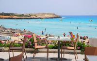 Нисси бич, кафе на территории пляжа