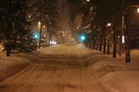 Заснеженный улицы Белгорода