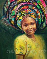 Нигерийский художник создает потрясающие реалистичные портреты своих соотечественниц