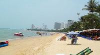 На пляже в пределах города