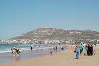 Марокко, на пляже в Агадире