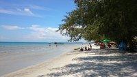 Городской пляж в Сиануквиле
