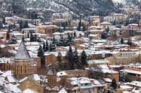 Покрытый снегом Тбилиси