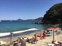 Пляж La Paolina в июле, Тоскана