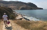 Свободные пляжи Судака. Середина дня.