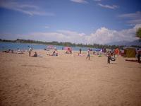 Пляж «Госрезиденция №2», сентябрьский полдень.