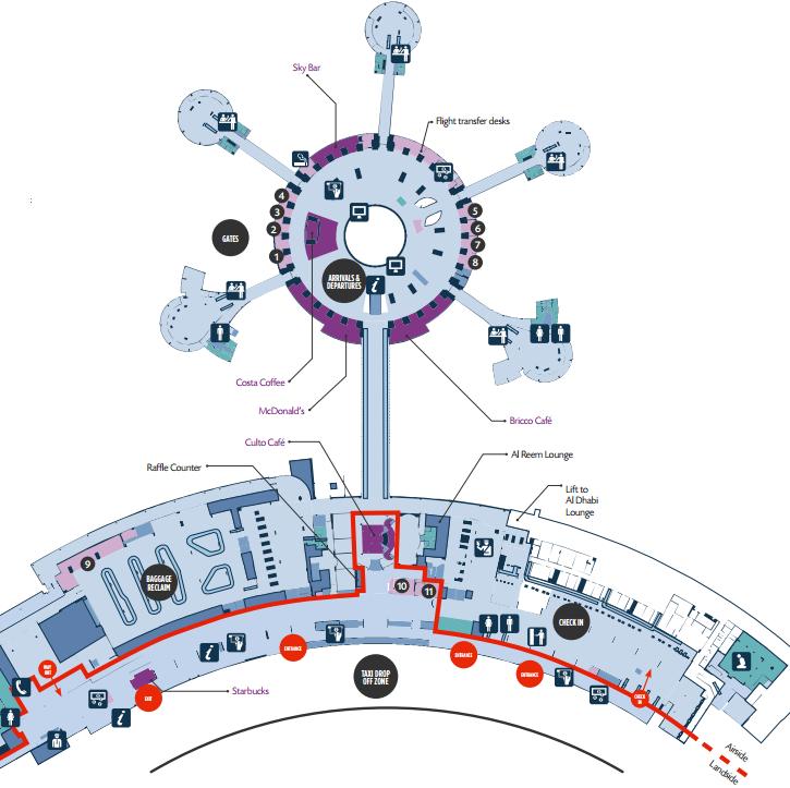 Аэропорт <span class='relinker'>Абу-Даби</span>: схема