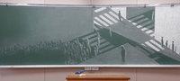 Потрясающие конкурсные рисунки японских студентов на школьных досках. Это нужно видеть!