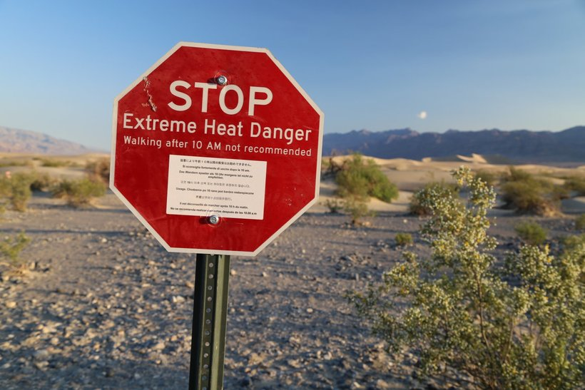 долина смерти Путешествие в Долину Смерти Extreme Heat Death Valley 1