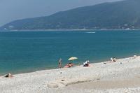 Июнь в Абхазии, пляж
