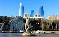 Баку, памятник-фонтан Бахрам Гур