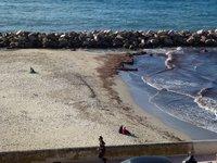 Апрель на пляже Prophète в Марселе