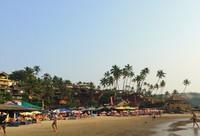 Вечер на пляже в Индии в апреле