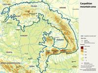 Карпаты на карте