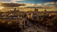 Панорама Мадрида осенью