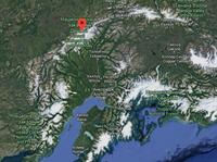 Аляскинский хребет на карте